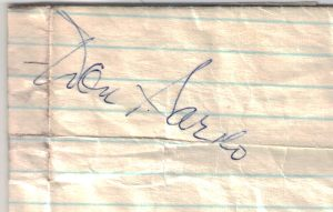Don Pardo autograph obtained in 1973 or 1974